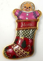 Hallmark Keepsake Christmas Ornament Mom Gingerbread Stocking 1999 Press... - $6.99