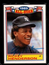Ricky Henderson Signed Autographed 1986 Topps All Star Baseball Card - N... - $49.99