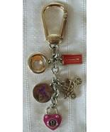 Coach Multi Mix Horse Carriage Heart Lock Bag Charm Key Fob Keychain 627... - $49.00