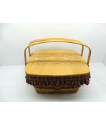 """1993 Longaberger 15"""" x 16"""" x 7.5"""" Homecoming Basket w/Liner, Protector &... - $34.65"""