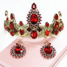Tiara wedding crown with matching earrings at Bling Brides Bouquet online Bridal - $49.99