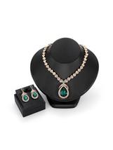 Women's Jewelry Set Imitation Gemstones Decor Water Drop Pendant Elegant... - $16.99