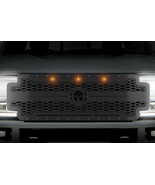 Steel Grille for Ford Super Duty F250,F350,F450 17-19 Spartan Black Ambe... - $940.45