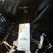 NWT Express Design Studio Size 8 Black, White Printed Strapless Dress image 3