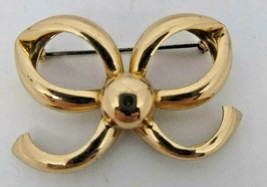 Vintage Napier  Gold Wash Sterling Silver Bow Brooch/Pin - $18.53