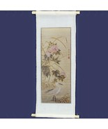Chinese Scroll Crane a1713 Falcon Painting Silk Picture Dollhouse Miniature - $5.59