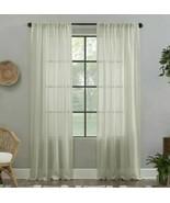 "1 panel Clean Window Lichtenberg Textured Linen Cyon/Ecru 52"" X  96"" - $10.89"