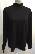 NEW St.Johns Bay Women Long Sleeve Black Knit Sweater Top Size XXL 2XL - $23.99