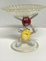 M&M CHARACTER CANDY DISH RED & YELLOW - $10.35