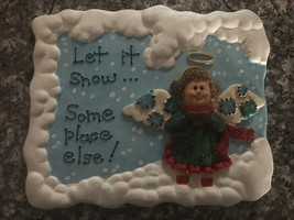 Let It Snow....Someplace Else Angel Plaque, Vintage in Box, 1998, House ... - $14.84