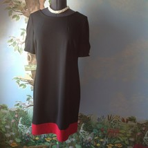 Tommy Hilfiger  Women's Short Sleeve Black and Red  Sheath Dress Size 14... - $63.36
