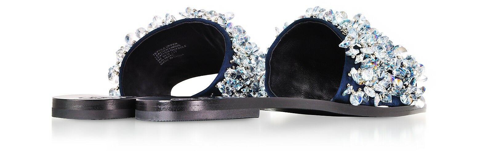 Tory Burch Logan Embellished Slide Sandals $298.00 Size 6