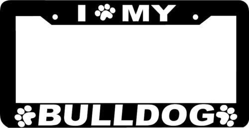 BULLDOG DOG paw print License Plate Frame - $4.49