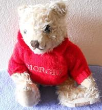 "Giorgio 1995 Plush Stuffed Animal Toy Bear 11"" Curly - $5.69"