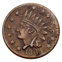 1863 Guerre Civile Token Magasin Carte Doscher Ny Non Un Cents (F) Fin État - $40.53