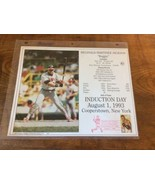 REGGIE JACKSON CALIFORNIA ANGELS 8X10 HALL OF FAME INDUCTION DAY CARD PO... - $15.95