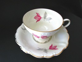 2 Rosenthal Pompadour Beatrice Footed  Cup & Saucer Sets - $35.63