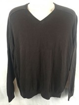Calvin Klein Sweater Mens Size XL Brown V-Neck Long Sleeve - $19.75