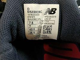 Neu New Balance Herren Schuhe Sneakers X-90 Laufen MSX90CRC Grau 7.5 D Msrp image 6