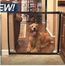 DOG GATE INGENIOUS MESH MAGIC PET DOGS ENCLOSURE SAFE NEW FENCES PUPPY C... - $14.36+