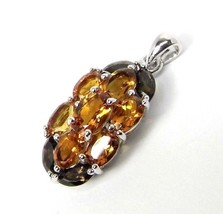 5.75 ctw Genuine CITRINE and Topaz Sterling silver Pendant - $45.43