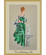 """""""ANGELICA"""" COMPLETE XSTITCH MATERIALS with 16 Count Aida - $49.49"""