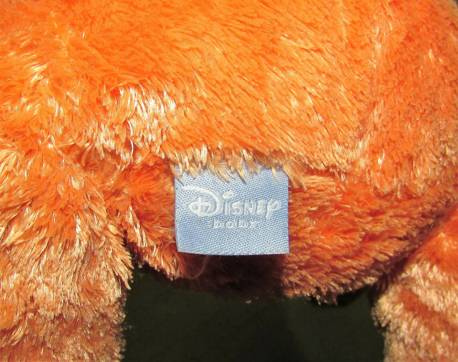 "DISNEY BABY WINNIE THE POOH IN TIGGER COSTUME PLUSH RATTLE 12"" STUFFED ANIMAL  image 6"
