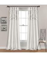 Lush Decor White Circle Dream Window Curtains Panel Set for Living, Dini... - $38.53