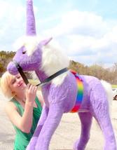 American Made Giant Stuffed Unicorn 36 Inch Soft Purple Made in USA America - $147.11