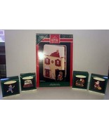 "1992 HALLMARK ORNAMENT DISPLAY ""THE NIGHT BEFORE CHRISTMAS"" HOUSE & 5 MI... - $15.83"