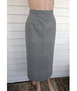 Plaid Skirt Black White 80s 27 Waist M - $20.00