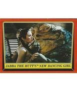 1983 Topps Star Wars Return of the Jedi #39 JABBA THE HUTT'S NEW DANCING... - $2.93
