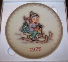 Hummel 1975 Plate - Ride Into Christmas - Bas Relief - #268 - Boxed! Euc! - $14.99