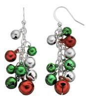 NEW Kohl's Christmas Holiday Jingle Bell Cluster Drop Earrings - $8.90