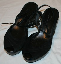 Cole Haan Womens Black Ankle Strap Sandals 9B Open Toe 9 B - $35.04