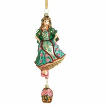 Reed & Barton 9 Ladies Dancing Glass Ornament Nine 12 Days Of Christmas NEW - $247.50