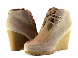 Michael Kors Rory Bootie Suede Lace Up Wedge Heel Chukka Boot 8 1/2 M - £33.68 GBP