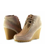 Michael Kors Rory Bootie Suede Lace Up Wedge Heel Chukka Boot 8 1/2 M - $41.95