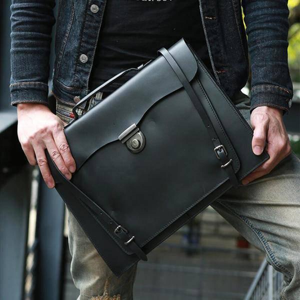 Sale, Handmade Men Tote Bag, Full Grain Leather Men Briefcase, Vintage Shoulder  image 5