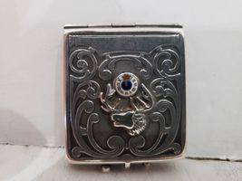 Antique Fraternal Elks BPOE Sterling Silver Card Case / Enameled Plague -1900's image 11