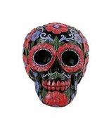 Ebros Black Day of The Dead Floral Blooms Sugar Skull Figurine DOD Skull... - £18.38 GBP