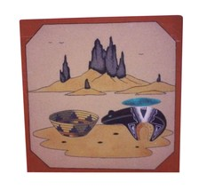 Navajo Sand Painting Signed Native American Art... - $34.65