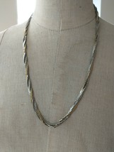 22ct gold plated vintage chain necklace rare stunning piece 47n - $27.65