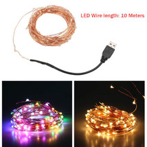 USB Powered 10M/33FT 100LED Copper Wire String Fairy Light Lamp Party De... - $5.65