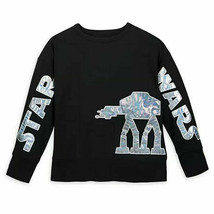 New Disney Parks Star Wars AT-AT Walker Holographic Pullover Top Size XL - $49.49