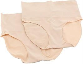 Spanx Set 2 Everyday Shaping Brief Panties Soft Nude XL NEW A353545 - $24.73