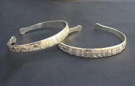 Long Tibetan Delicately Carved Mantra OM Mani Double Dorje Amulet Cuff Bracelet - $7.61