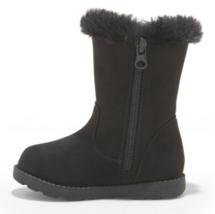 Cat & Jack Girls' Katrina Toddler Faux Fur Shearling Tall Black Winter Boots NWT image 2