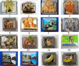 Monkey Ape Chimp Banana Italian charm Classic 9mm size - Choose from 14 designs! - $3.47