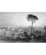 ITALY Rome Piazza del Popolo - 1864 Fine Quality Print Engraving - $49.50